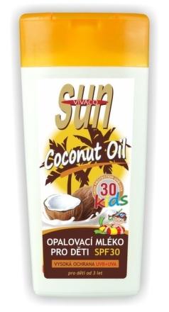 SUN dětské opalov.mléko OF30 s kokos.olejem 200ml