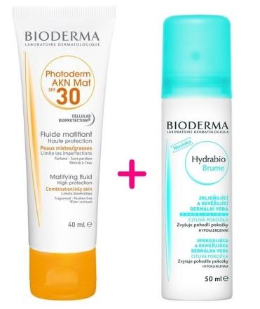 BIODERMA Photoderm AKN Mat Fluid SPF30 40ml + Hydrabio Brume 50ml