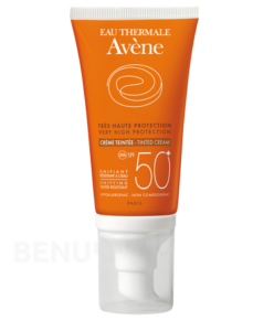 AVENE Creme teinte 50+ 50ml-tónovací krém SPF 50+ + dárek AVENE Lotion micellaire 100ml micelární voda zdarma
