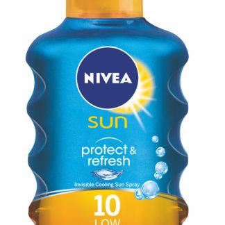 NIVEA SUN Neviditelný sprej na opalování Protect&Refresh OF10 200ml