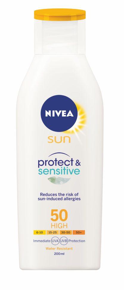 NIVEA SUN Mléko na opalování Sensitive OF50 200ml