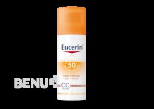EUCERIN SUN CC krém opalov.SPF50+ stř.tmavý 50ml 2+1 zdarma