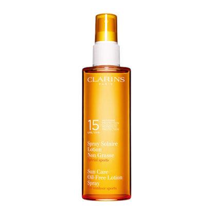 Clarins Sun Care Oil-Free Lotion Spray UVB 15 nemastná opalovací emulze ve spreji 150 ml