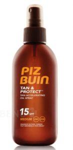 Piz Buin SPF15 Tan+Protect Oil Spray 150ml