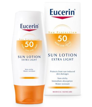 EUCERIN SUN Extra lehké mléko SPF50 150ml