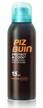 PIZ BUIN Protect&Cool Refr.Sun Mousse 15SPF 150ml