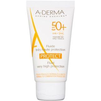 A-Derma Protect ochranný fluid pro normální až smíšenou pleť SPF 50+ Water Resistant (Non Sticky