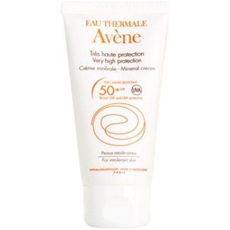 Avene Sun Mineral ochranný krém na obličej bez chemických filtrů a parfemace SPF 50+ (Very Water-Resistant