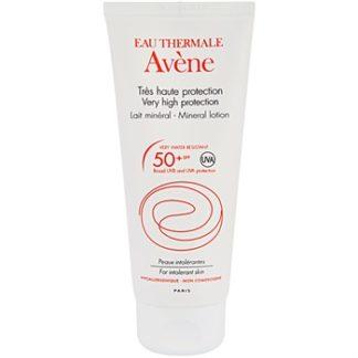 Avene Sun Mineral ochranné mléko bez chemických filtrů a parfemace SPF 50+ (Very Water-Resistant