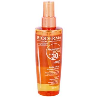 Bioderma Photoderm Bronz ochranný suchý olej ve spreji podporující a prodlužující přirozené opálení SPF 30 (Fragranced
