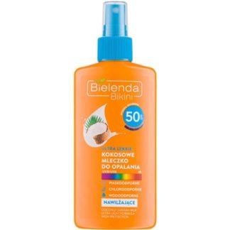 Bielenda Bikini Coconut ochranné opalovací mléko ve spreji SPF 50 Water Resistant (Ultra Light Formula) 150 ml
