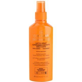 Collistar Sun Protection mléko na opalování ve spreji SPF 6 (Supertanning Moisturizing Milk Spray) 200 ml