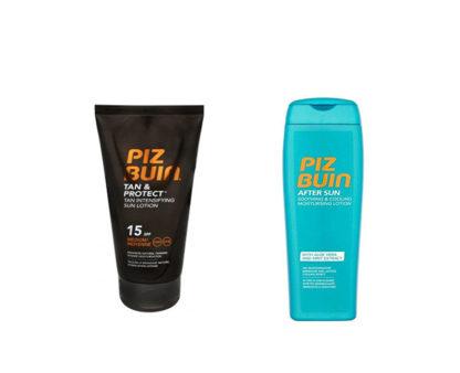 Piz Buin Tan & Protect Mléko urychlující proces opalování SPF 15 150 ml + Mléko po opalování After Sun 200 ml dárková sada