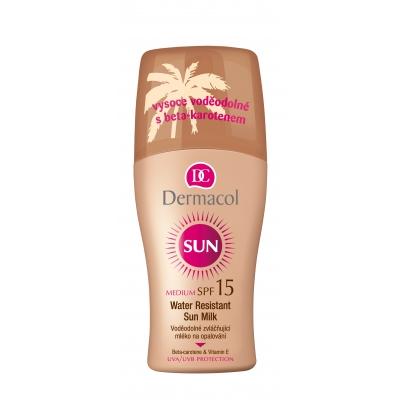 Dermacol Sun Milk Spray SPF15 200 ml opalovací přípravek na tělo voděodolná pro ženy