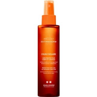 Institut Esthederm Sun Care opalovací olej na tělo a vlasy se střední UV ochranou Moderate Sun (Age Beautifully) 150 ml