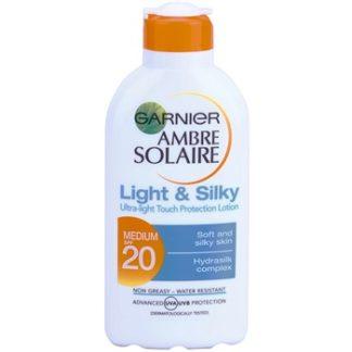 Garnier Ambre Solaire Light & Silky mléko na opalování SPF 20 (Protection Lotion Ultra-light Touch) 200 ml