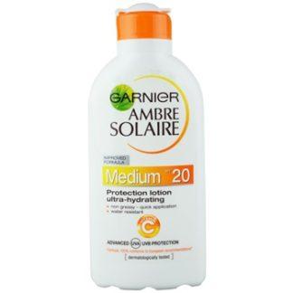 Garnier Ambre Solaire hydratační mléko na opalování SPF 20 (Protection Lotion Ultra-hydrating) 200 ml