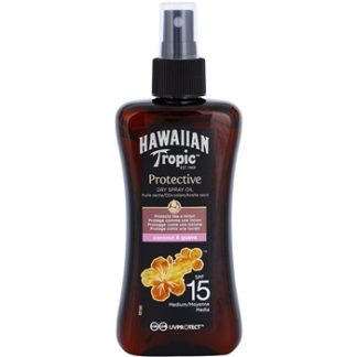 Hawaiian Tropic Protective voděodolný ochranný suchý olej na opalování SPF 15 (Coconut & Guava) 200 ml