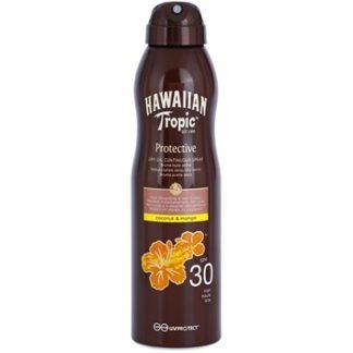 Hawaiian Tropic Protective voděodolný ochranný suchý olej na opalování SPF 30 (Coconut & Mango) 180 ml