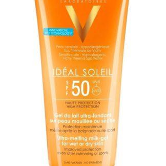 VICHY Idéal Soleil SPF50 ultratající mléčný gel pro vlhkou nebo suchou pleť 200ml