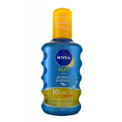 Nivea Sun Protect & Refresh SPF10 200 ml opalovací přípravek na tělo pro ženy