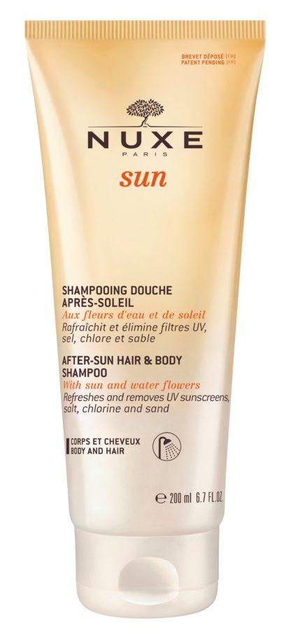 NUXE SUN Šampon po opalování na vlasy a tělo 200ml