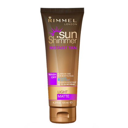 Rimmel Voděodolný samoopalovací krém SunShimmer (Instant Tan Water Resistant Matte) 125 ml 002 Medium