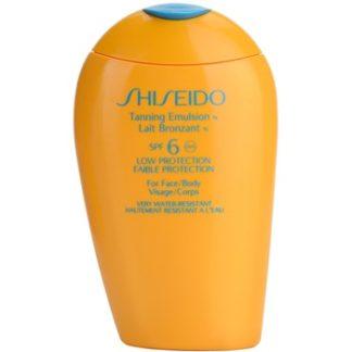 Shiseido Sun Protection opalovací emulze SPF 6 (Tanning Emulsion for Face and Body) 150 ml