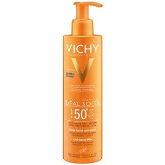 Vichy Idéal Soleil Capital opalovací mléko odpuzující písek SPF 50+ Water Resistant (No Parabens) 200 ml